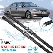 Escovas de carro para BMW Série 5 E60 E61 2003 ~ 2010 Limpadores de Párabrisas 520i 523i 525i 528i 530i 535i 540i 545i 550i M5 520d 525d