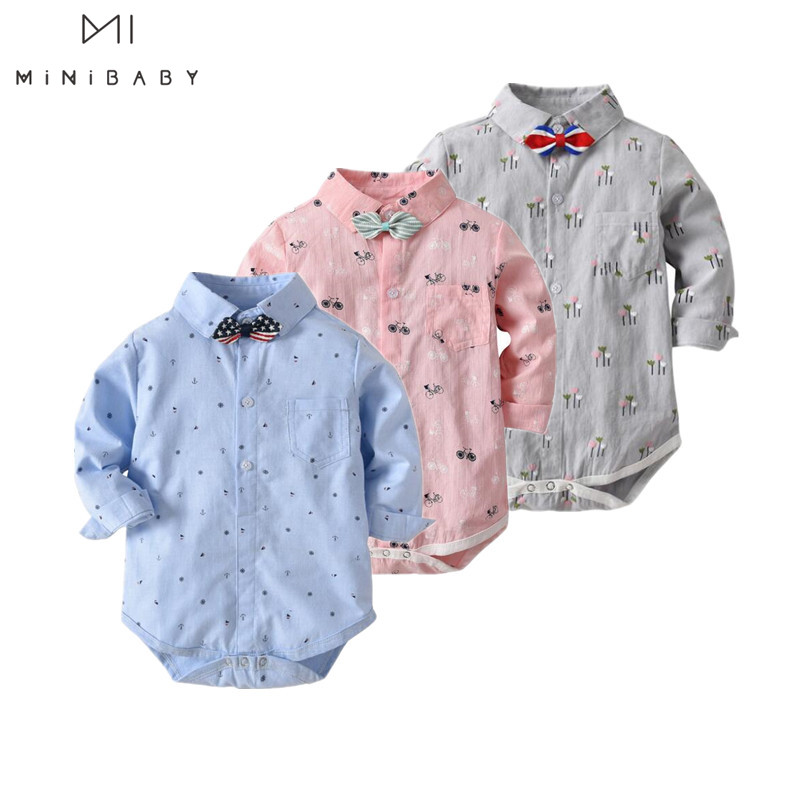 2019 Classic Plaid Bodysuit For Baby Wearing 1-2-3 Birthday Party Gentleman Baby Store Body Boy Costume Funny Tie Baby Clothes