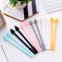 Creative cartoon Totoro gel pen Korea stationery creative jelly color sign black 0.5mm