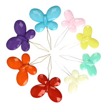 2PCS Plastic Butterfly Threader Cross Stitch Needles Multicolor Insertion Tools Hand Sewing Machine DIY Craft  Accessories G