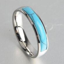 Keisha Lena Новое персонализированное ювелирное винтажное старинное серебряное кольцо из бирюзы для мужчин тибетское титановое стальное кольцо на палец