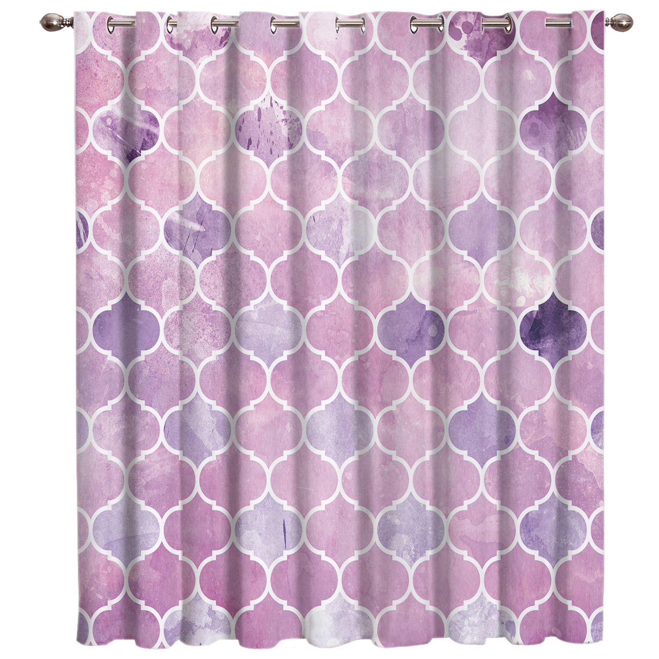 Moroccan Purple Window Treatments Curtains Valance Curtain Rod Fabric Window Treatment Ideas Living Room Home Decor Curtains Aliexpress