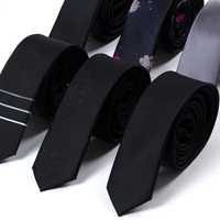 High Quality 2019 New Designers Brands Fashion Business Casual 5cm Slim Ties for Men Cool Necktie Office Work with Gift Box