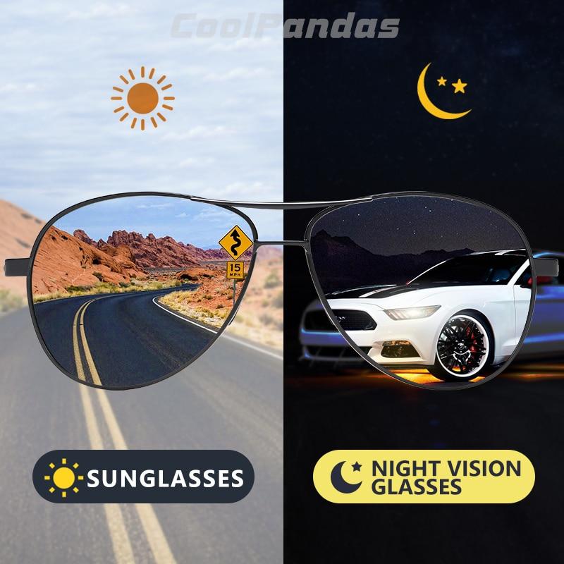 2020 Vintage Photochromic Sunglasses Men Women Polarized Chameleon Sun Glasses Anti-glare Safe Driving Eyewear Zonnebril Heren