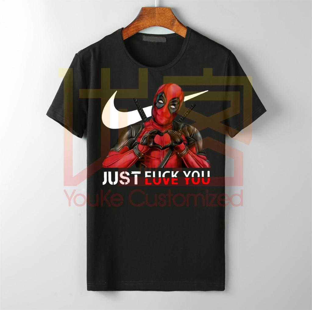 2019 Addidas Best Selling Top Designer T Shirt Men And Women Shirt Just Deadpool Love You Shirt Deadpool Venom Superhero T-shirt