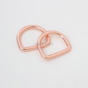 10 шт 50 шт Розовое золото внутри 19х15 мм 3/4 дюйма diy сумки металлические аксессуары сплав круглый сварной d кольцо для швейных деталей