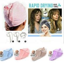 Magic Microfiber Hair Fast Drying Dryer Towel Bath Wrap Hat