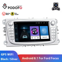 Podofo 2 din Android 8.1 Car Radio 7HD Autoradio Multimedia Player GPS WIFI MP5 USB RCA Auto audio Car Stereo for Ford Focus