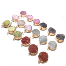 Wholesale 6 Colors Crystal Pendants Necklace Jewelry Making Supplies Natural Stone Pendant Diy for Fine Jewelry Size 30x23mm wholesale joursneige fine huang long natural stone pendants carving horse pendant necklace lucky for women gift zodiac jewelry