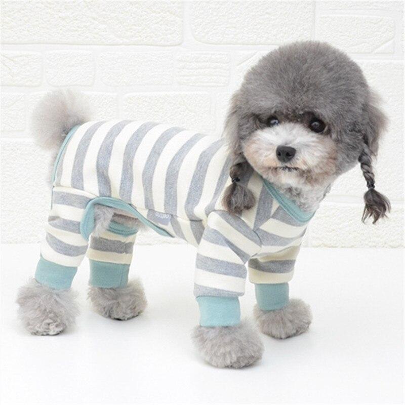 Cotton Dog Pajamas Jumpsuit Autumn Winter Dog Clothes Overalls Pet Outfit Small Dog Costume Puppy Clothing Dog Shirt Pyjama