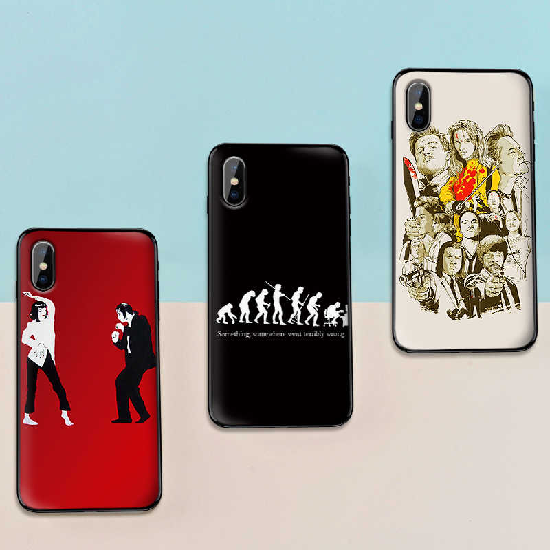 For Samsung S7 Edge Phone Case Film Pulp Fiction 8 S9 S10 PLUS Soft TPU For NOTE M10 20 30 CASE