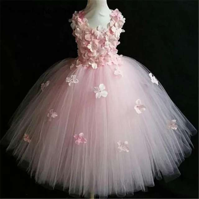 Quality Pink Princess Flower Dress 4