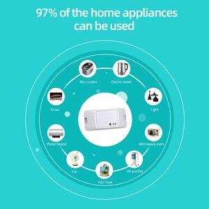 Image 2 - Sonoff temel R3 kablosuz Wifi anahtarı 220V/ışık/Google ev/Alexa/Ewelink otomasyon modülü akıllı ev Diy akıllı anahtarı