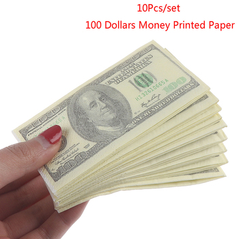 10 Pcs/Set Creative Funny 100 Dollars Money Printed Paper Napkins Thick Toilet Tissue Paper Party Supplies
