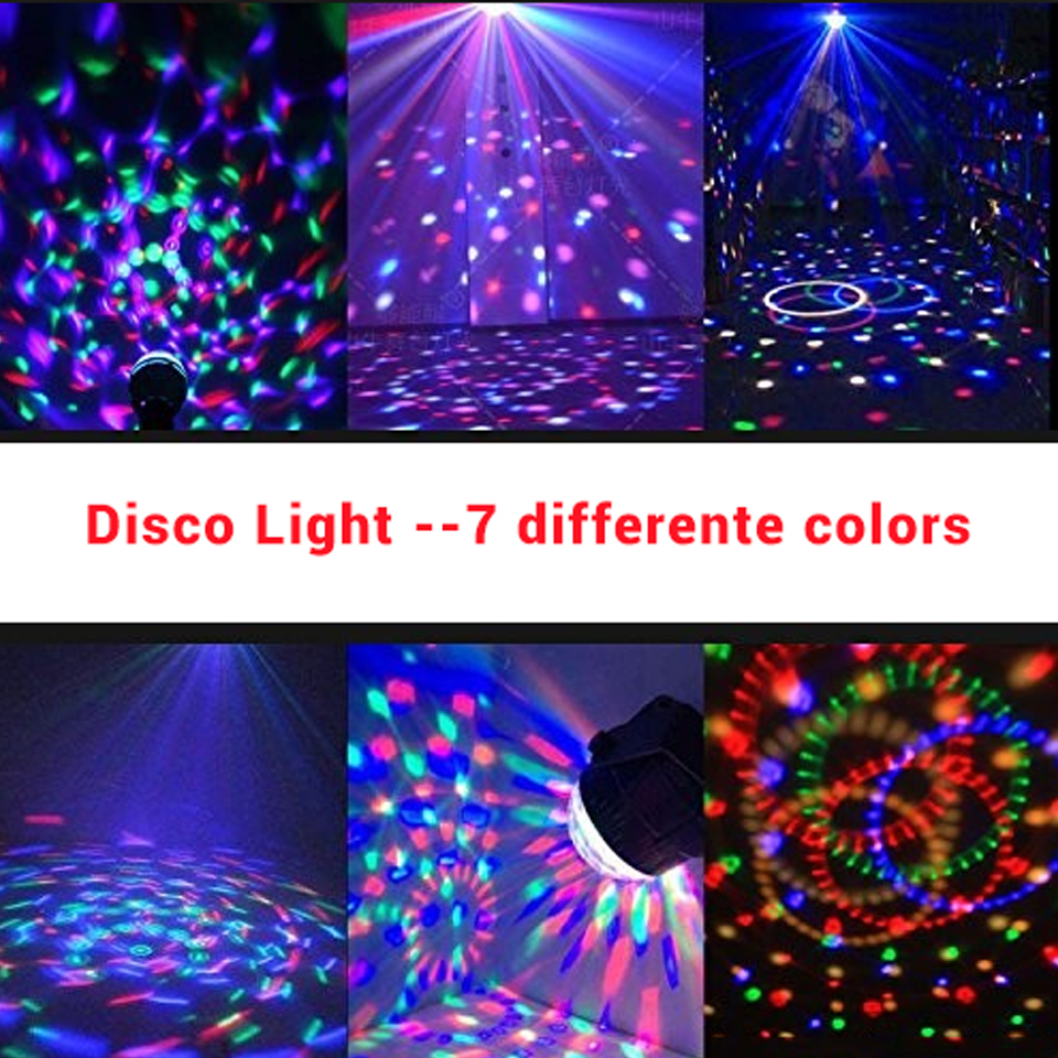 Image 5 - Sound Activated Rotating Disco Ball DJ Party Lights 3W 3LED RGB LED Stage Lights For Christmas Wedding sound party lights-in Stage Lighting Effect from Lights & Lighting on