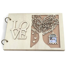 Diy Wedding Photo Album Wooden Guest Book Anniversary Birthday Gifts Travel Memory Scrapbook Home Decor