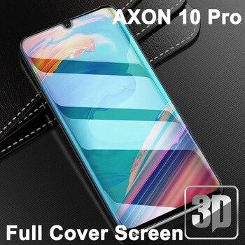 Перейти на Алиэкспресс и купить 9H 3D закаленное стекло для AXON10Pro ЖК-изогнутая полная защитная пленка для экрана для Zte AXON 10 Pro A2020pro 5G защитная пленка