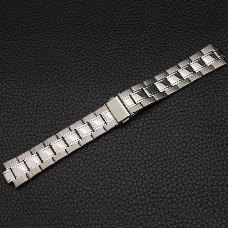 Watch Accessories (Band) Stainless Steel Watch Band Watch Strap MEN'S Watch with Boud Edage Belt Watch Bracelet Protruding Openi