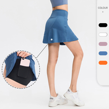 New Women Tennis Skirts High Waist Safety Badminton Short Skirts Summer Yoga Shorts Fitness Trousers Trainning Sportwear