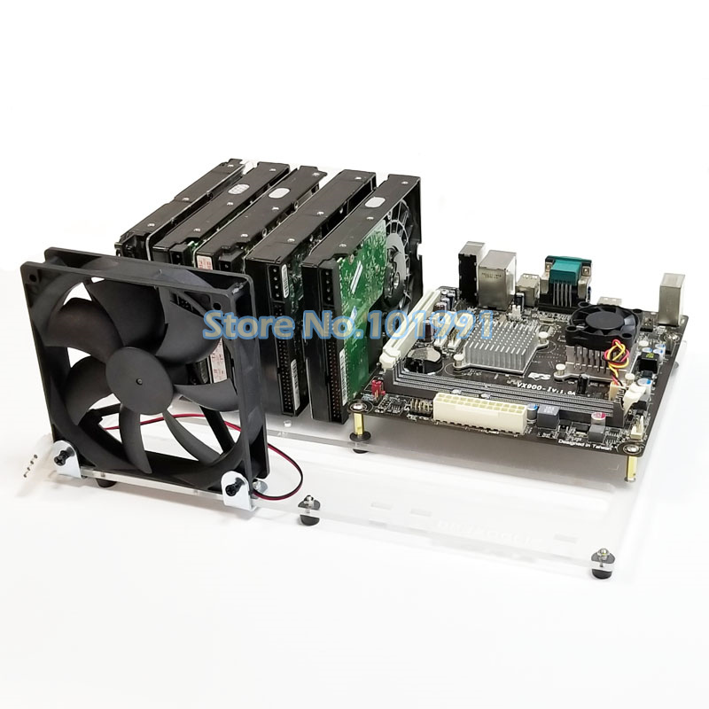 Hard Drive Bracket 3.5 2.5-inch Hard Drive Multi-layer Stacking ITX MATX Motherboard NAS DIY With Fan