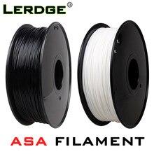 Filamento uv anti-ultravioleta asa da impressora 3d de lerdge 1.75mm 1kg carretel dureza material branco suprimentos consumíveis pretos