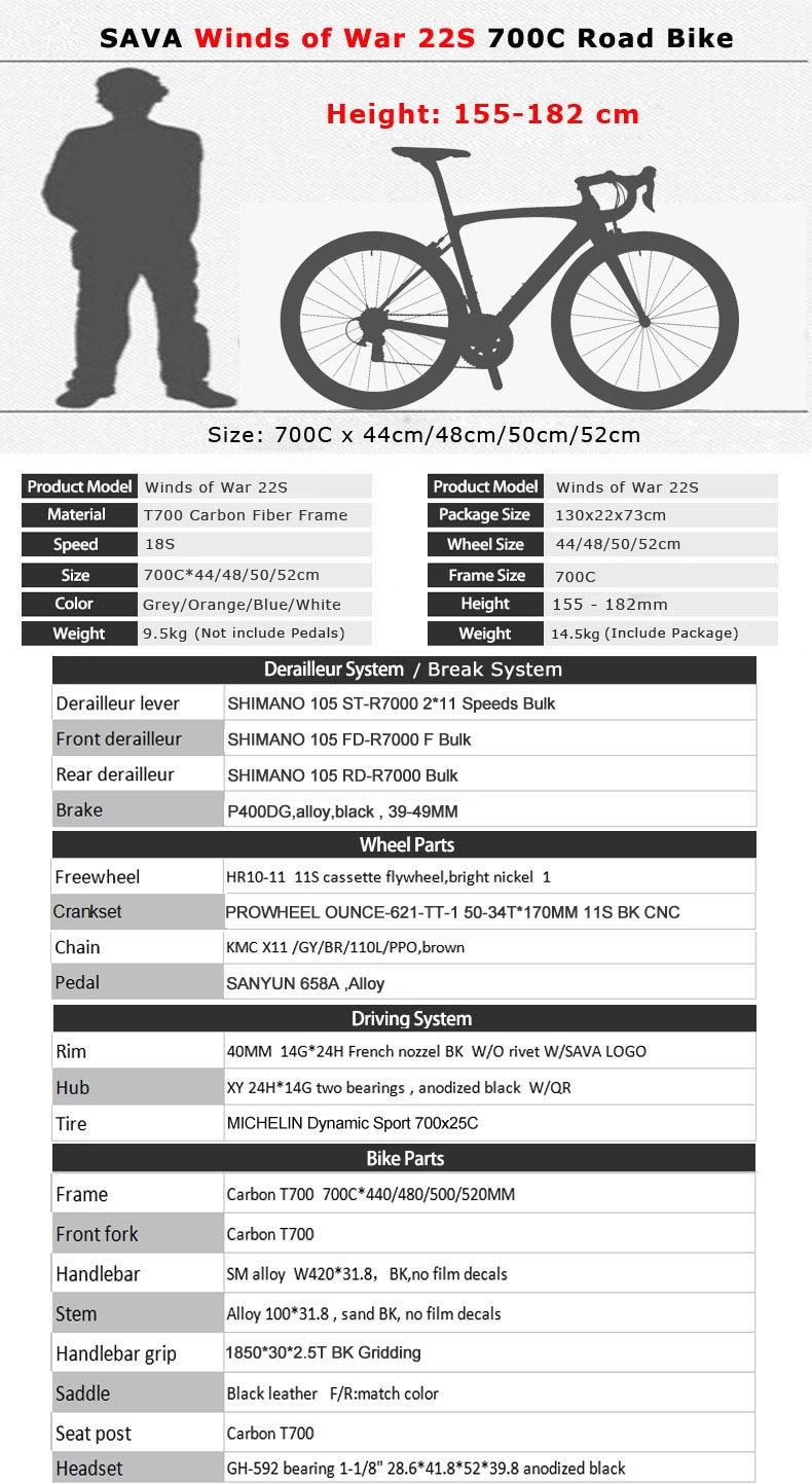 Hb3dba0c837ef42ed98dc1fff5fd7e4c1Q SAVA Road Bike 700c Carbon Road Bike Speed Carbon Road Bicycle Carbon Bike with SHIMANO 105 R7000 EU Taxes free Velo de route
