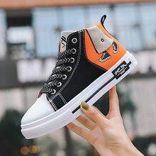 2020 мужские модные оранжевые холщовые кроссовки популярные