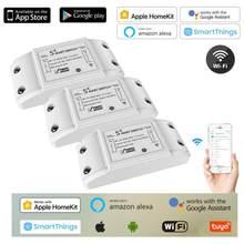 2021 novo diy wi fi interruptor de luz inteligente universal disjuntor temporizador homekit app controle remoto sem fio funciona com alexa casa do google