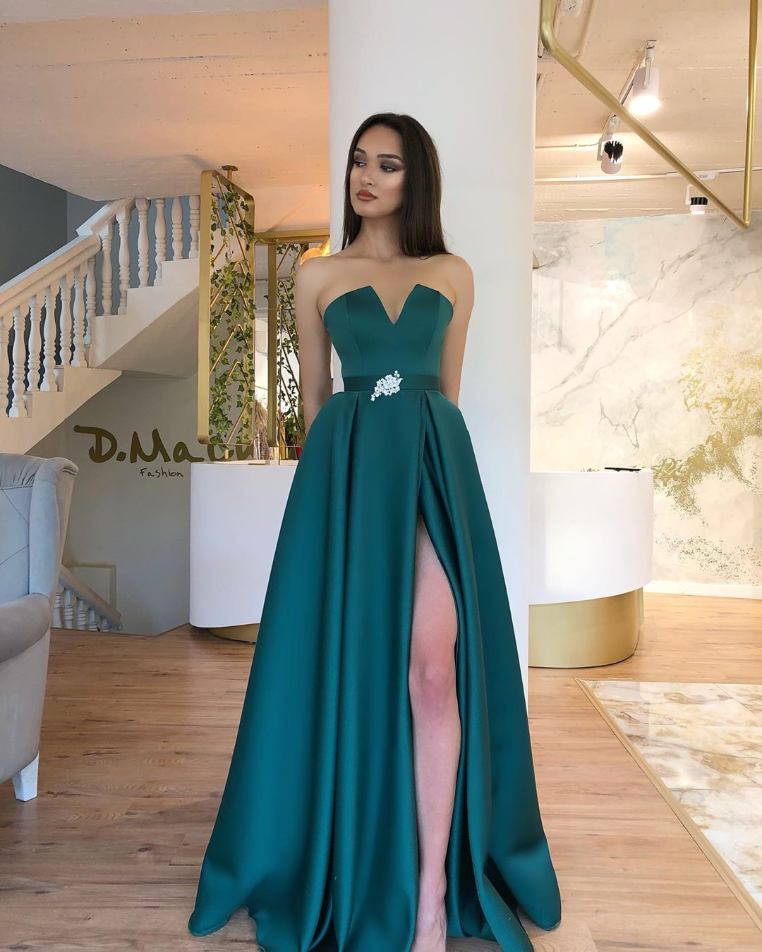 Green Beads Evening Dresses Long 2019 Sleeveless Backless Formal Occasion Party Women Prom Dresses Homecoming Dresses