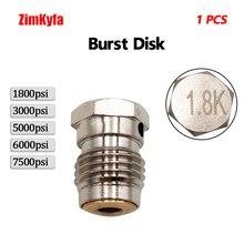Пейнтбол PCP 1шт Burst диски 1.8k 3k 5k +6k 7.5k для сжатого воздуха Co2 резервуара регулятора клапана