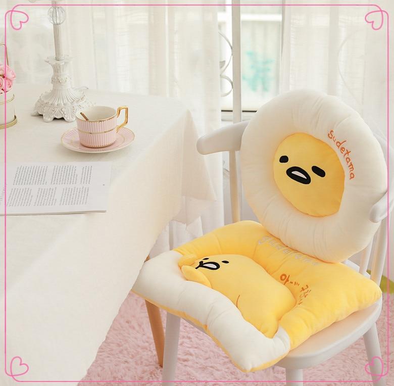 Cartoon Gudetama Chair Seat Cushion Stuffed Toys Soft Plush Birthday Christmas Gift Toy #5306