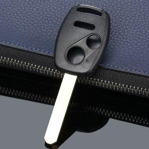 Image 5 - 3 botones botón Repalcement entrada sin llave estuche para mando a distancia caso clave hoja sin cortar para HONDA Accord piloto cívica CR V coche cubre