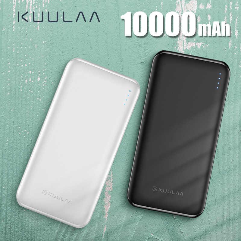 KUULAA banku mocy 10000 mAh PowerBank przenośna ładowarka Poverbank 10000 mAh zewnętrzna ładowarka do baterii USB dla Xiao mi mi 9 8 iPhone