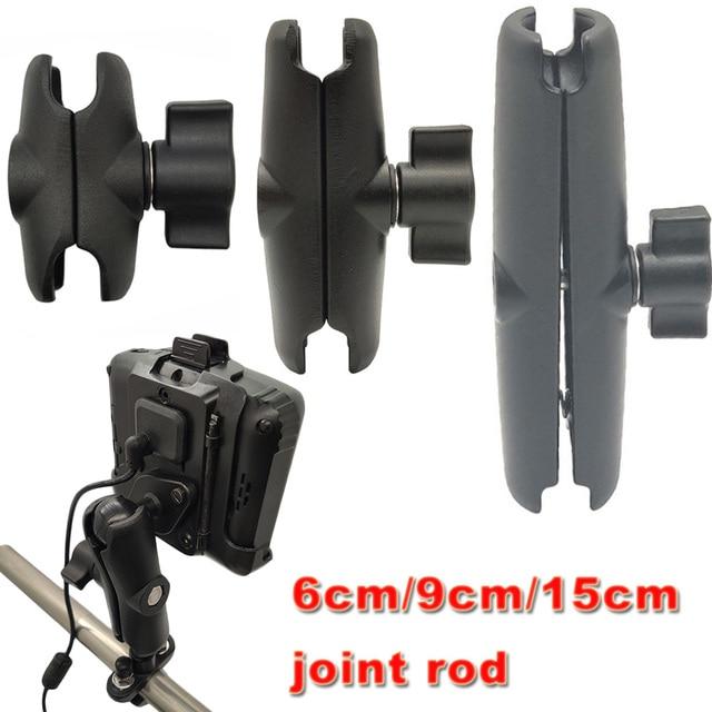 JINSERTA 6 سنتيمتر 9 سنتيمتر 15 سنتيمتر مزدوجة المقبس الذراع ل 1 بوصة الكرة متوافق ل RAM يتصاعد ل Gopro عمل كاميرا ، للغارمين ، الهاتف
