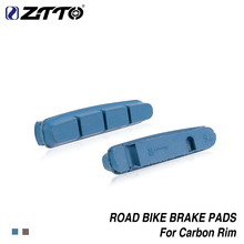 ZTTO 1 Pair Road Bike Brake Shoes Pads For CARBON RIMS Dura Ace Ultegra 105 Lightweight Composite materials braking pad