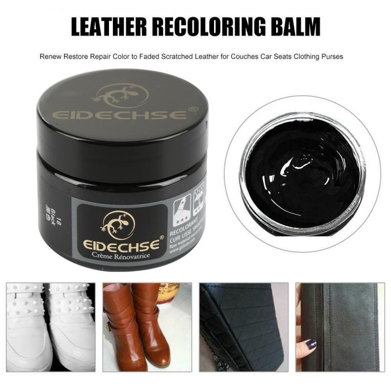 Leather Recolouring Balm Cream Restorer Sofa Chairs 11 Colors 50ml Complementary Color Paste Repair Cream