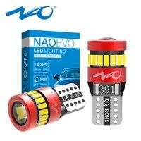 NAO T10 LED W5W 1.8W côté voiture intérieur lumières 12V Super lumineux ampoule 3030 3014 puces Auto blanc 6000K Parking marqueur dôme lampes
