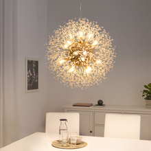 Spark Ball Iluminación LED de araña, candelabro de diente de león, comedor, sala de estar, Bar, lámparas de cristal de Arte Creativas con personalidad