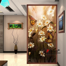 PSHINY 5D DIY diamond embroidery sale white flowers Butterfly Full diamond paintings square rhinestone diamond new shelves dazzle butterfly prints diamond paintings