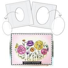 Estêncil oval corte de metal dados e selos estêncil para diy scrapbooking/álbum de fotos decorativo gravando cartões de papel diy