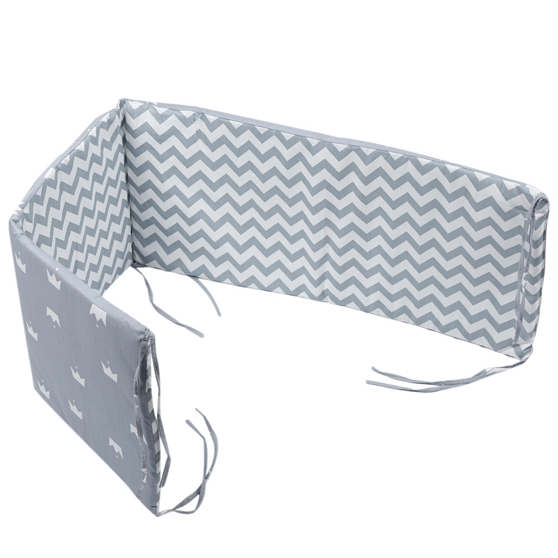 Breathable Crib Bumper Pads Washable Padded Crib Liner Set For Baby Boys Girls Safe Bumper