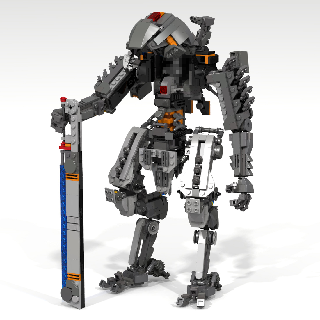 Children 1265Pcs STEM MOC Ronin Mecha Bricks Small Particle Building Blocks Educational Toy Gift Set with Weapon For Christmas