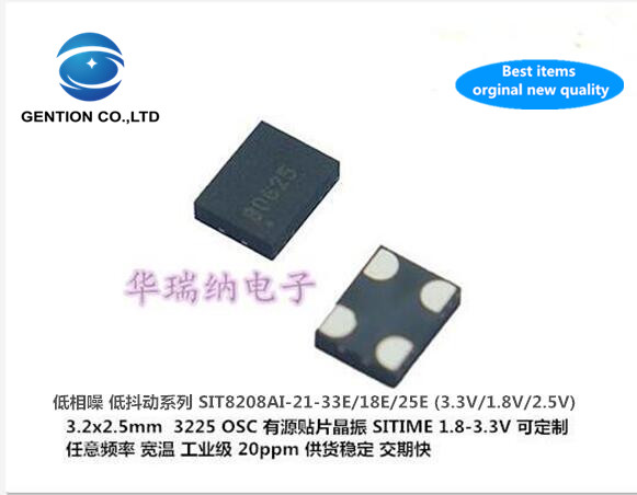 2pcs 100% New And Orginal SITIME SIT8208AI-21-33E 24.576M 24.576MHZ Low Phase Noise Active Crystal 3225