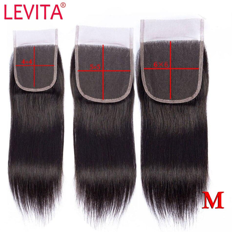 LEVITA 4X4 5X5 6X6 Lace Closure Brazilian Straight Closure Human Hair Lace Closure HD Transparent Lace Closure Remy Middle Ratio