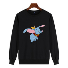 Dumbo Print Sweatshirt Femme Animal Cartoon icon Printed Kawaii Sweatshirt Womens Funny pullover female tumblr harajuku pullover цена