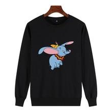 Dumbo Print Sweatshirt Femme Animal Cartoon icon Printed Kawaii Womens Funny pullover female tumblr harajuku