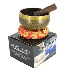 "3.75"" Classical Nepalese Singing Bowl, Tibetan Buddhism Carving Mantra & Mandala, Yoga/Meditation Singing Bowl, Prayer Bowl(China)"