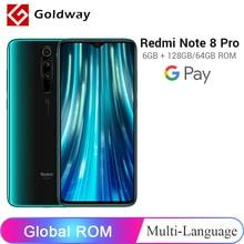 Xiaomi Redmi Note 8 Pro с глобальной прошивкой, 6 ГБ, 128 Гб/64 ГБ, смартфон, 64 мп, четырехъядерный процессор Helio G90T, четыре ядра, экран 6,53 дюйма, 4500 мАч, NFC