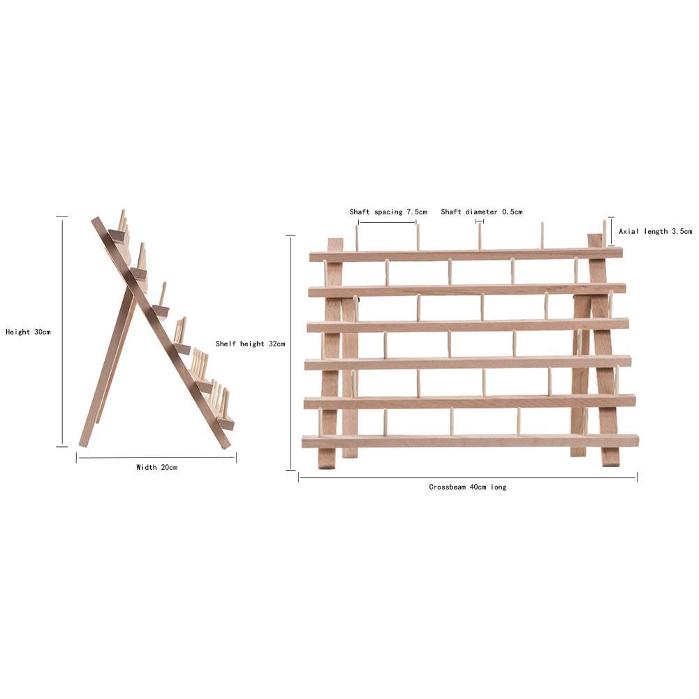 Equickment Estante de Hilo de Madera Plegable carretes para Coser Bordado Acolchado