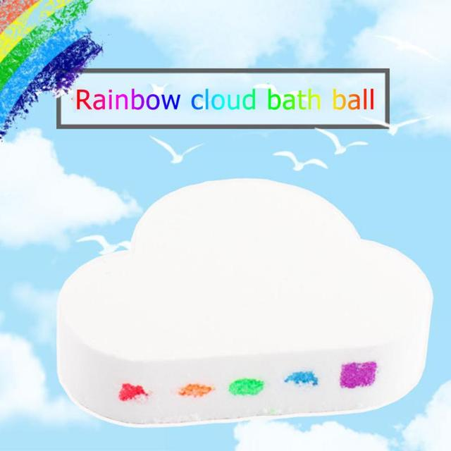 100g Rainbow Cloud Natural Bath Salt Exfoliating Moisturizing Bubble Bomb Ball Essential Oil Bubble Shower Natural Skin Care 1